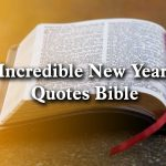 Incredible New Year Quotes Bible 2020