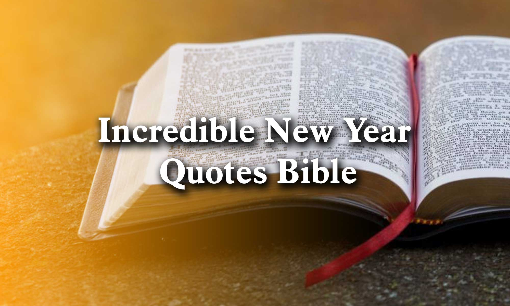 New Year Quotes Bible